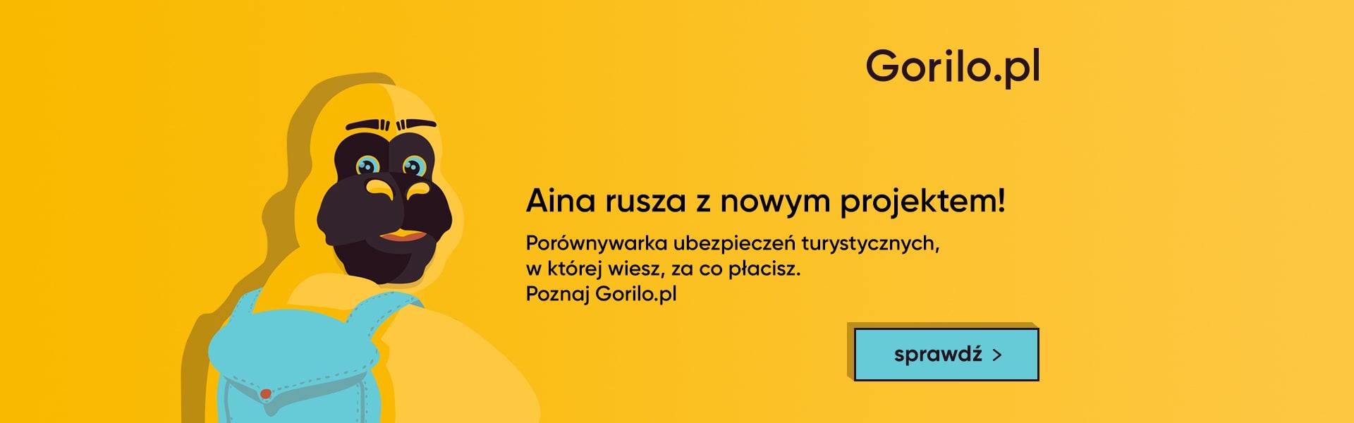 Gorilo.pl - Porównywarka ubezpieczeń turystycznych.