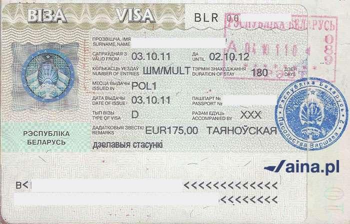 Zdjęcie wizy na Białoruś